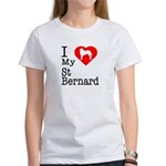 I Love My Saint Bernard Women's T-Shirt