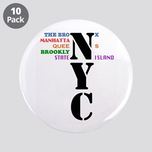 "NYC Big Apple All-Stars 3.5"" Button (10 pack)"