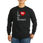 I Love My Saint Bernard Long Sleeve Dark T-Shirt