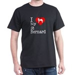 I Love My Saint Bernard Dark T-Shirt