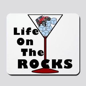 On Rocks Martini Mousepad