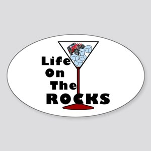 On Rocks Martini Sticker (Oval)