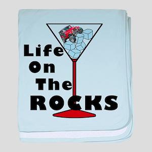On Rocks Martini baby blanket
