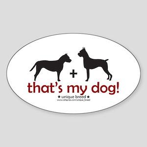Pit Bull (AmStaff)/Boxer Oval Sticker