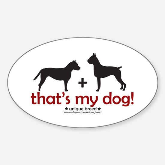 Pit Bull (AmStaff)/Boxer Oval Decal