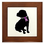 Shar Pei Breast Cancer Suppor Framed Tile