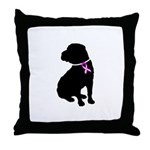 Shar Pei Breast Cancer Suppor Throw Pillow