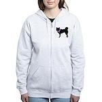 Siberian Husky Breast Cancer Women's Zip Hoodie
