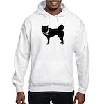 Siberian Husky Breast Cancer Hooded Sweatshirt