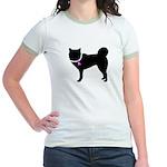 Siberian Husky Breast Cancer Jr. Ringer T-Shirt