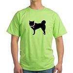 Siberian Husky Breast Cancer Green T-Shirt