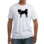 Siberian Husky Breast Cancer Fitted T-Shirt