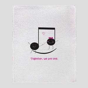 Togetherness Notes Throw Blanket