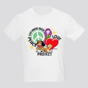 Stop Animal Abuse PLP Kids Light T-Shirt