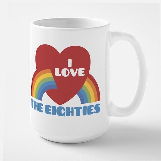 I Love Eighties Large Mug