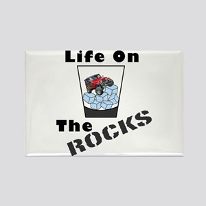 On Rocks Glass Rectangle Magnet