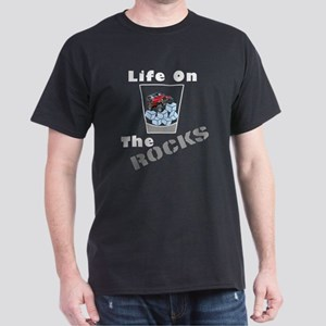 On Rocks Glass Dark T-Shirt