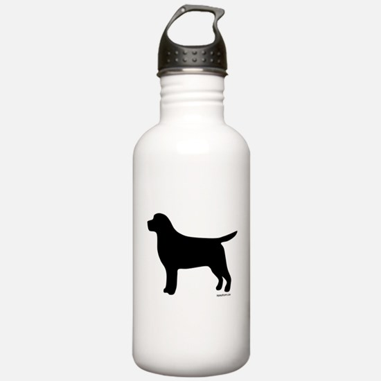 Black Lab Silhouette Water Bottle
