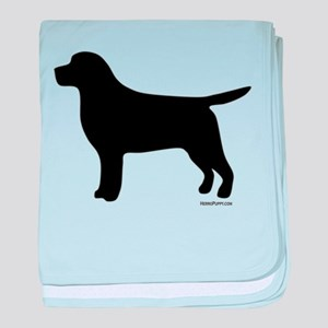 Black Lab Silhouette baby blanket
