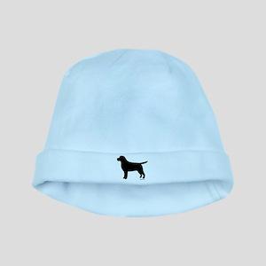 Black Lab Silhouette baby hat