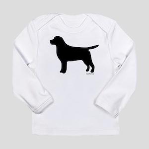 Black Lab Silhouette Long Sleeve Infant T-Shirt