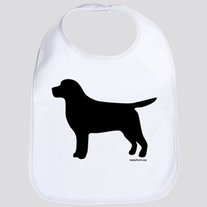Black Lab Silhouette Bib