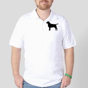 Black Lab Silhouette Golf Shirt