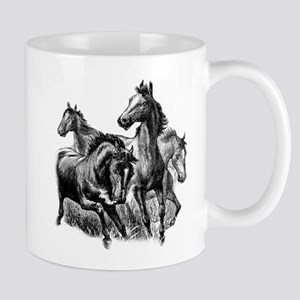Wild Horses Illustration Mug