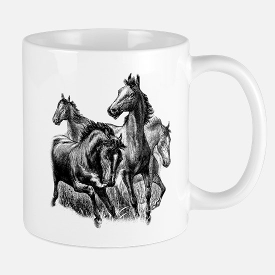 Wild Horses Illustration Mug
