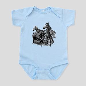 Wild Horses Illustration Infant Bodysuit