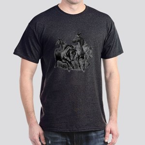 Wild Horses Illustration Dark T-Shirt