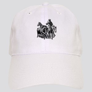 Wild Horses Illustration Cap