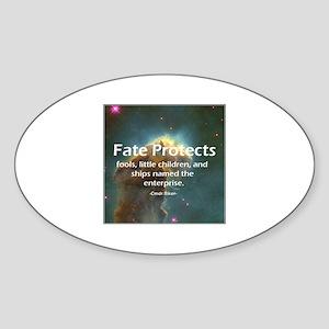 Star Trek fate protects Sticker (Oval)