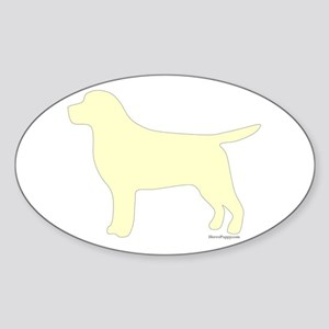 Yellow Lab Silhouette Sticker (Oval)