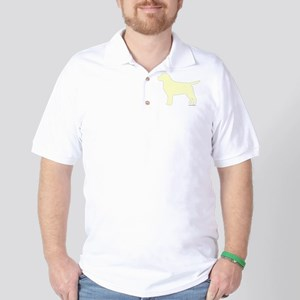 Yellow Lab Silhouette Golf Shirt