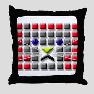 Cat Tiles Throw Pillow