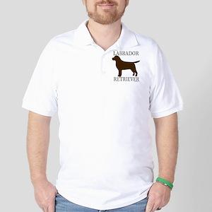 Chocolate Labrador Retriever Golf Shirt