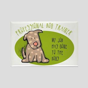 Funny Dog Trainer Rectangle Magnet