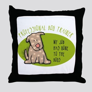 Funny Dog Trainer Throw Pillow