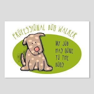 Funny Dog Walker Postcards (Package of 8)
