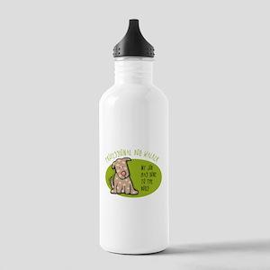 Funny Dog Walker Stainless Water Bottle 1.0L