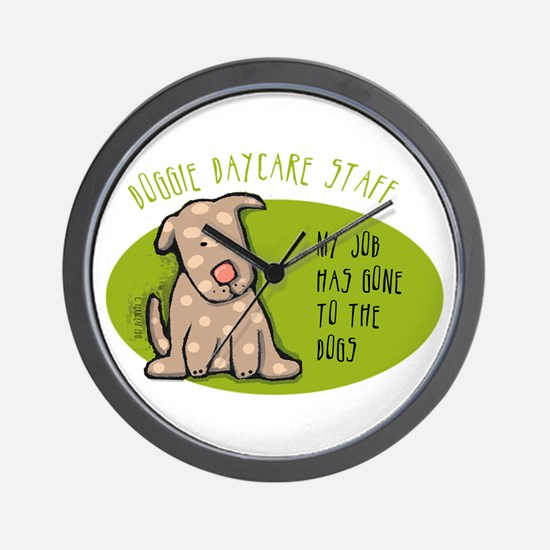 Funny Doggie Daycare Wall Clock