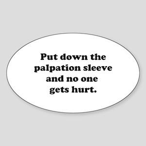 Palpation Sleeve Sticker (Oval)