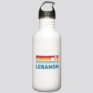 Retro Palm Tree Lebanon Stainless Water Bottle 1.0