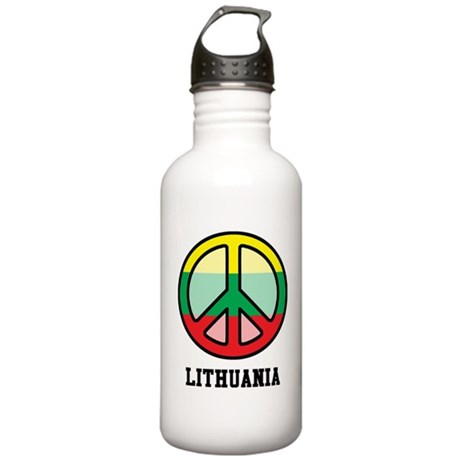 Peace In Lithuania Stainless Water Bottle 1.0L