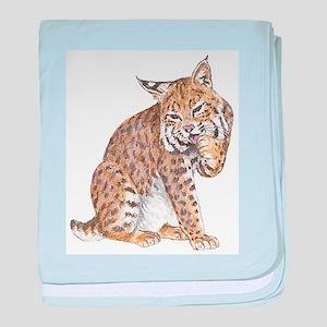 Bobcat baby blanket