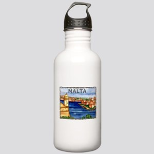 Vintage Malta Art Stainless Water Bottle 1.0L