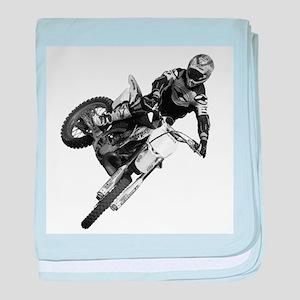 Dirt bike High Flying baby blanket