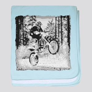 """""""Fun in the Woods"""" (BW) baby blanket"""