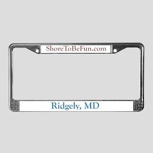 Ridgely. MD License Plate Frame